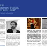 """Entrega del Premio """"Materialización de Obras de Ingeniería 2020 Ing. Jorge Marcelo Lockhart"""""""